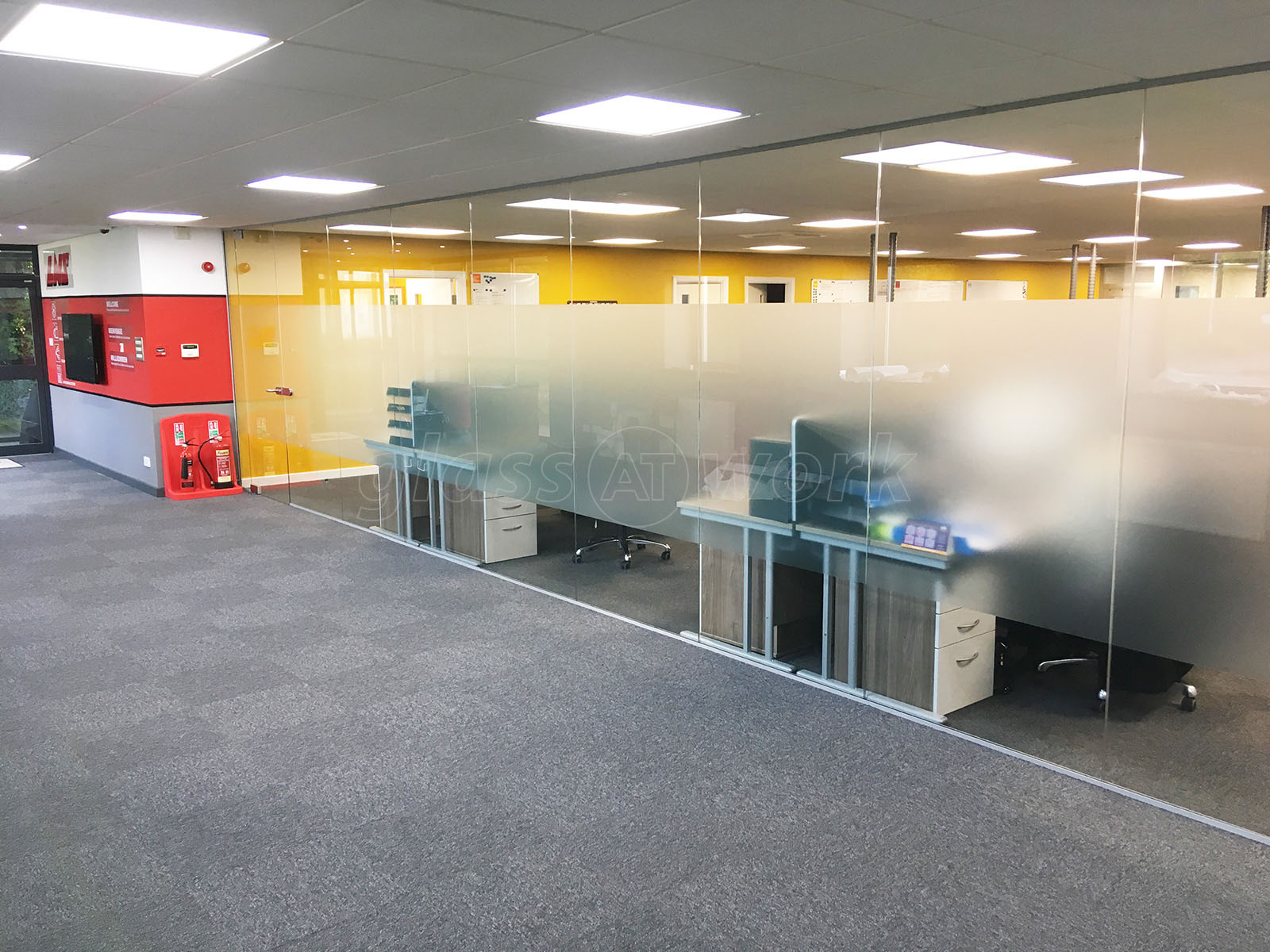 Glass Partitioning at LNS Turbo UK Ltd Barnsley South Yorkshire