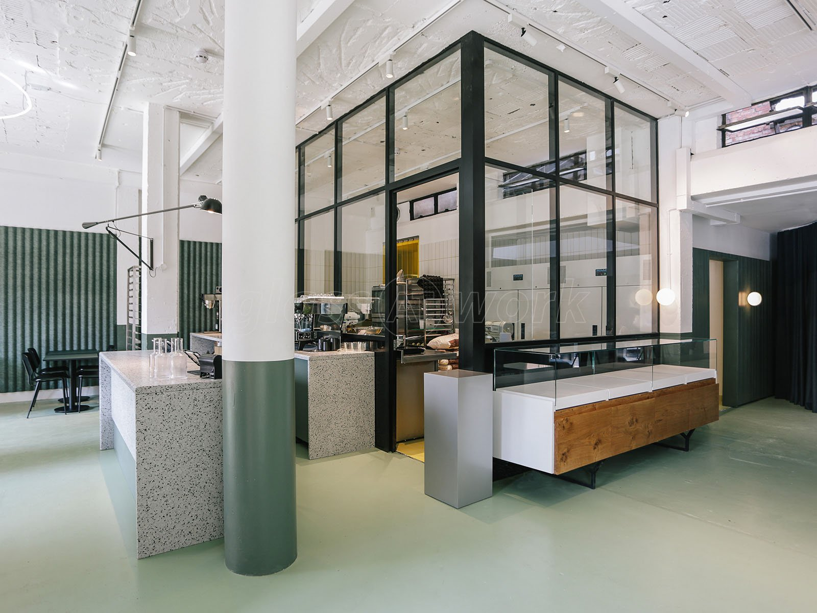 T Bar Single Glazed Industrial Style Interior Glass Partitions