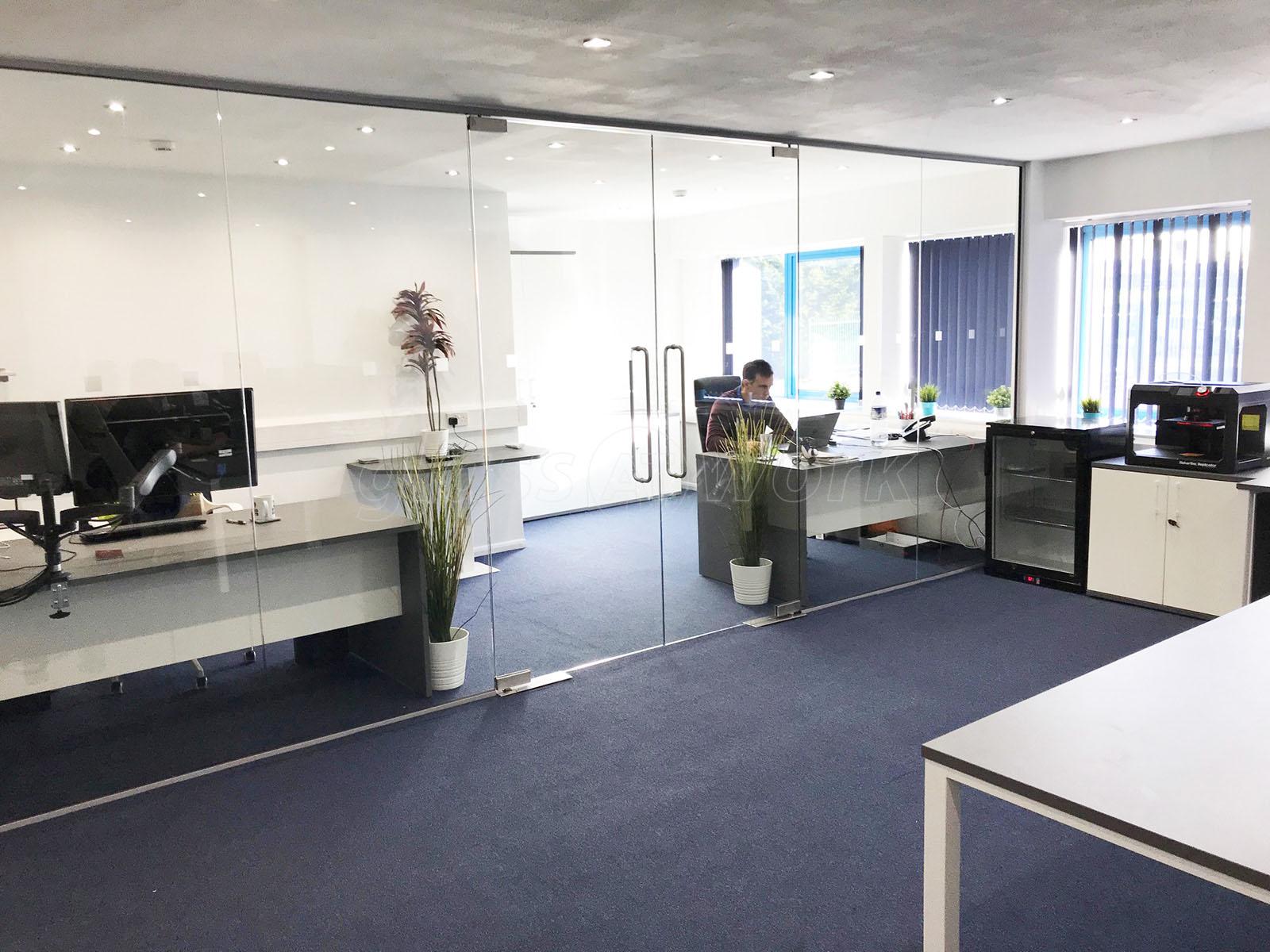 B-Tech International Ltd (Daventry): Frameless Glass Double Doors