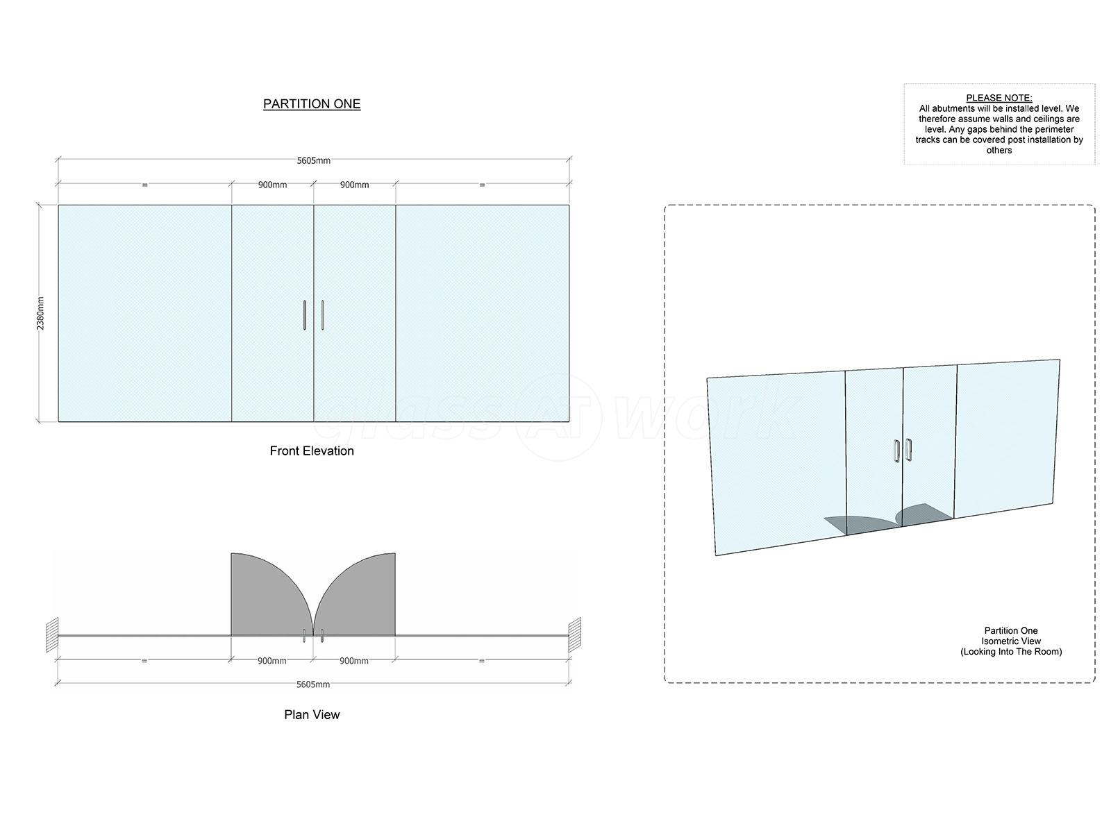 Glass Partitioning At B Tech International Ltd Daventry Frameless Doubleglazingdiagram01jpg Northamptonshire Double Doors