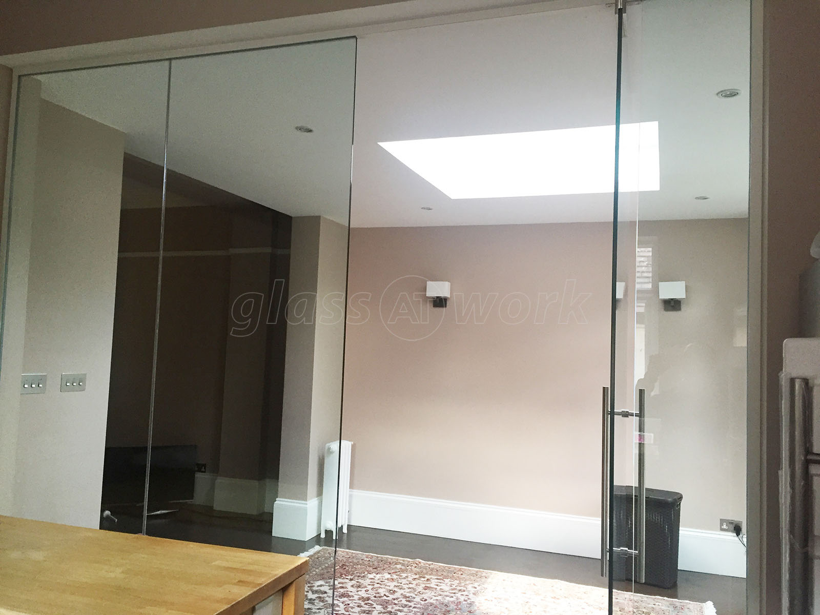 Glass partitioning at domestic property mapesbury london glass partition wall and door - Wall partition images ...