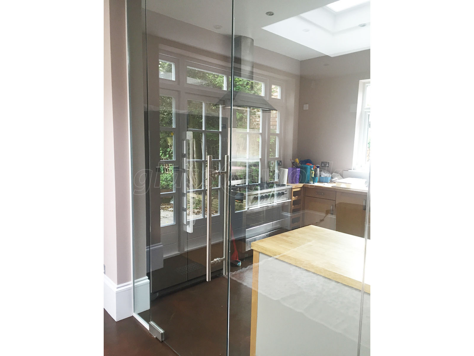 Partition Walls With Doors : Glass partitioning at domestic property mapesbury london