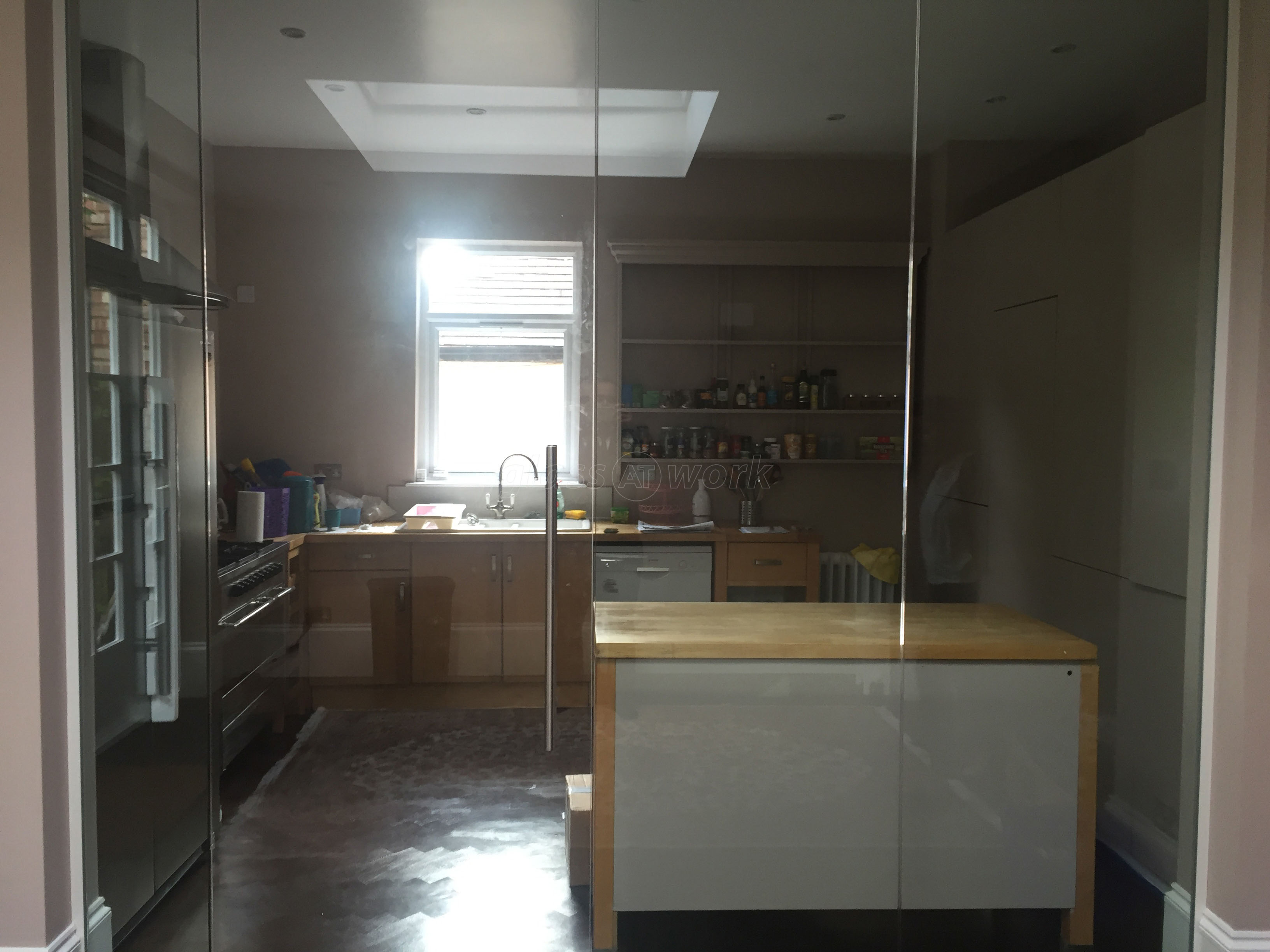 Glass Partitioning At Domestic Property Mapesbury London