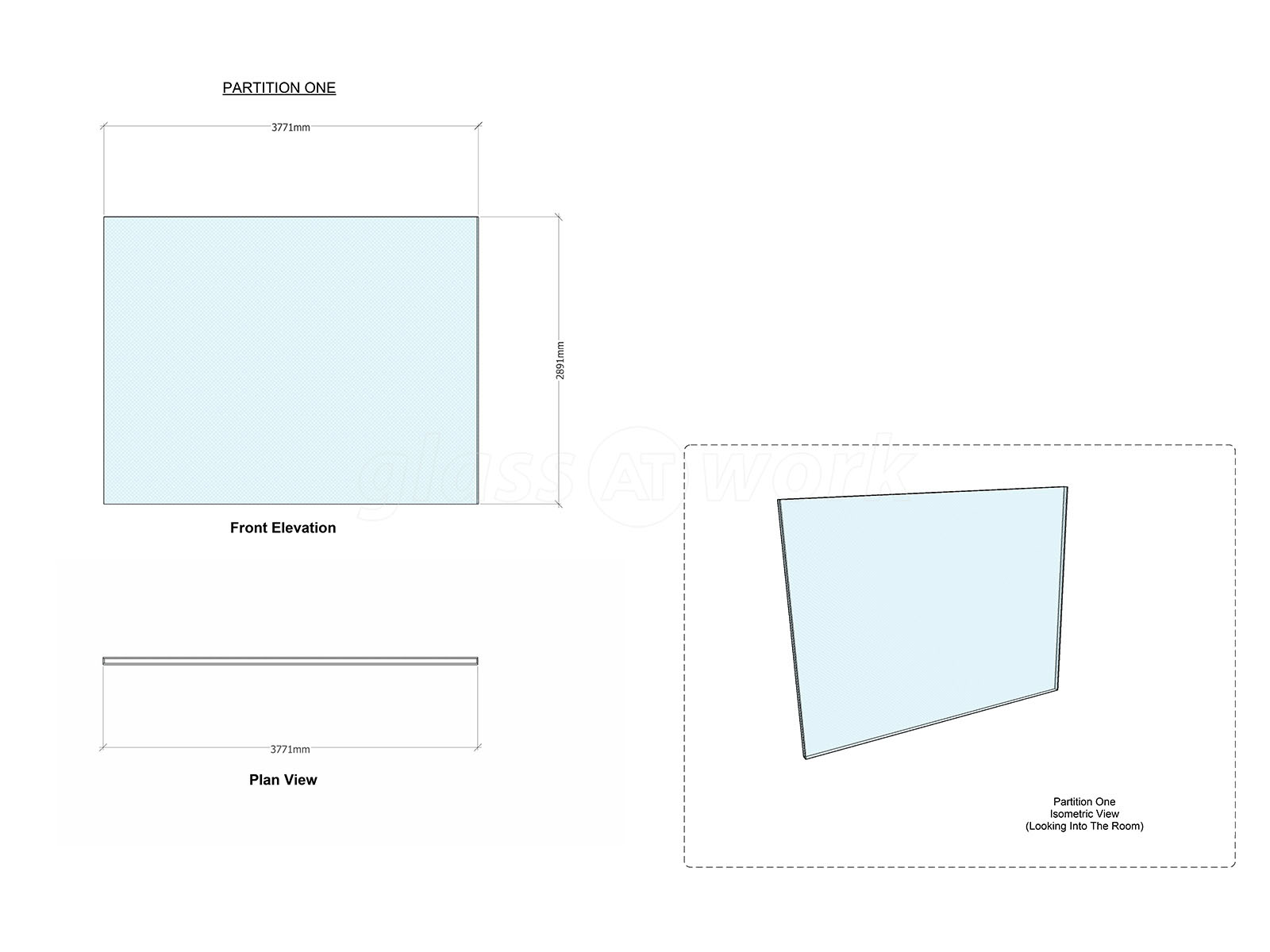Glass Partitions At H22 Ltd Wandsworth London Double Glazed Glazing Diagram Office Wall