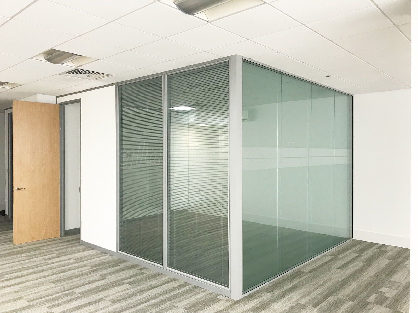 Double Glazed Walls : Glass partitions at h ltd wandsworth london double