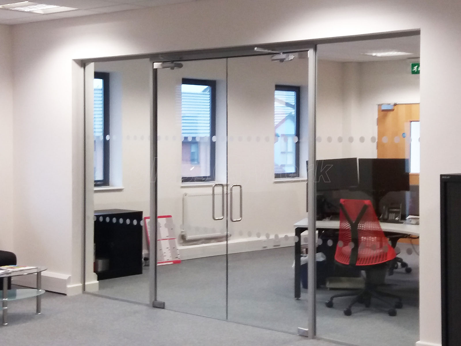 glass door for office. Pruftechnik Ltd (Lichfield, Staffordshire): Glass Partition With Framed Double Doors Door For Office E