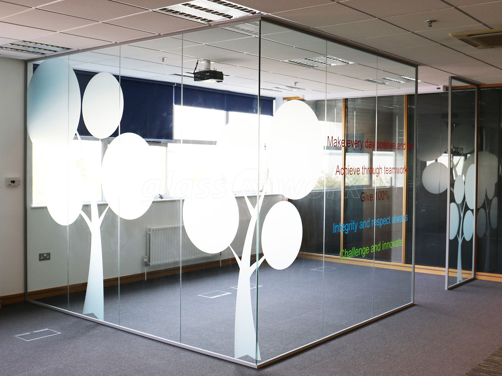 Bunzl Retail Supplies Manchester Glass Partitioning With Window Film