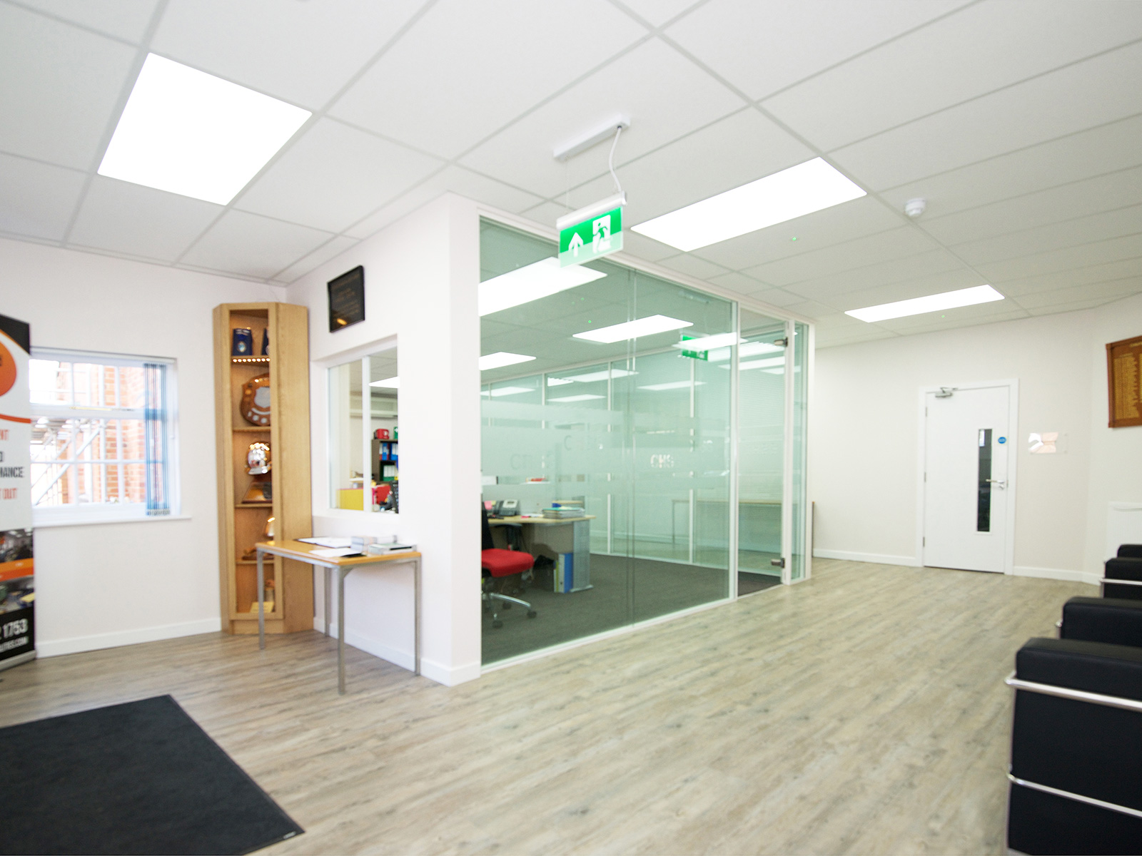 Silwood Facilities Ltd (Chertsey, London) Double Glazed Partitioning With Integral