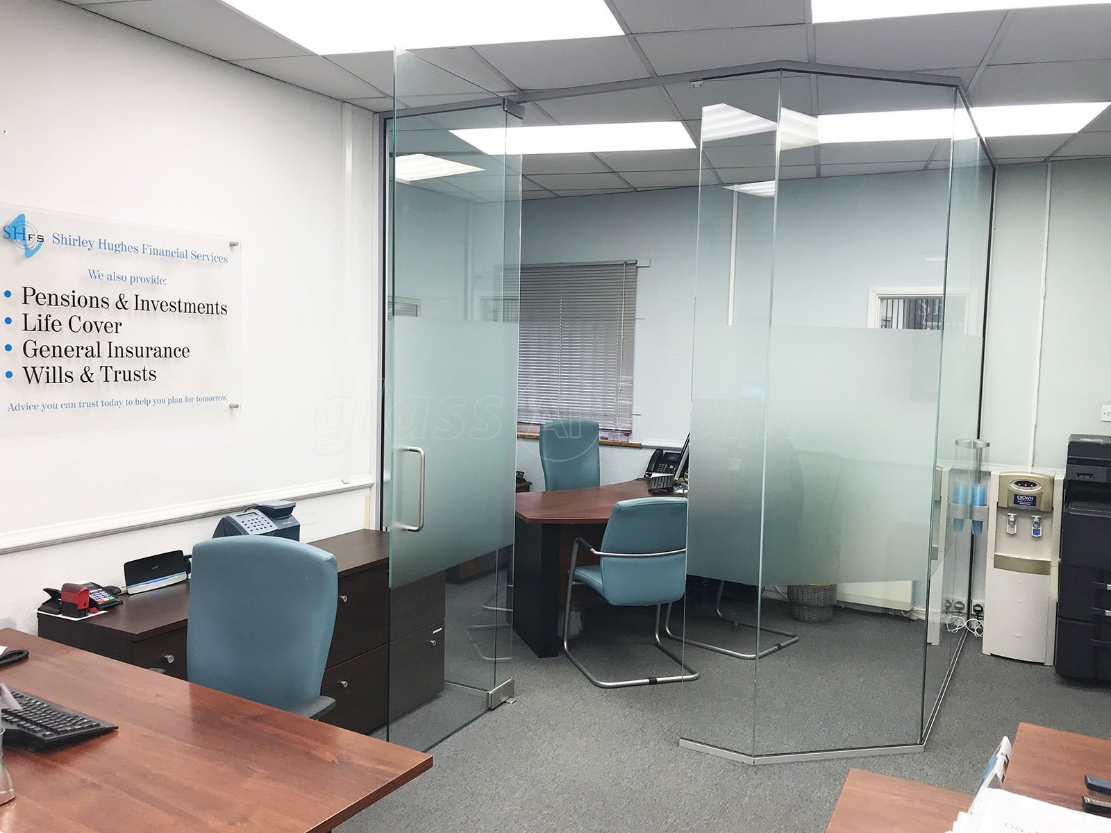 Glass Partitions at Shirley Hughes Financial Services (Newbury ...