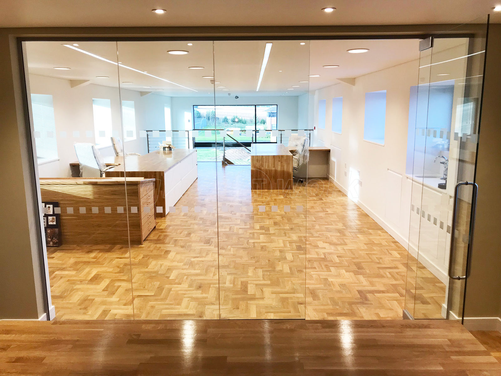 Glass Building Interior : Glass partitioning at gmc building contractors ltd