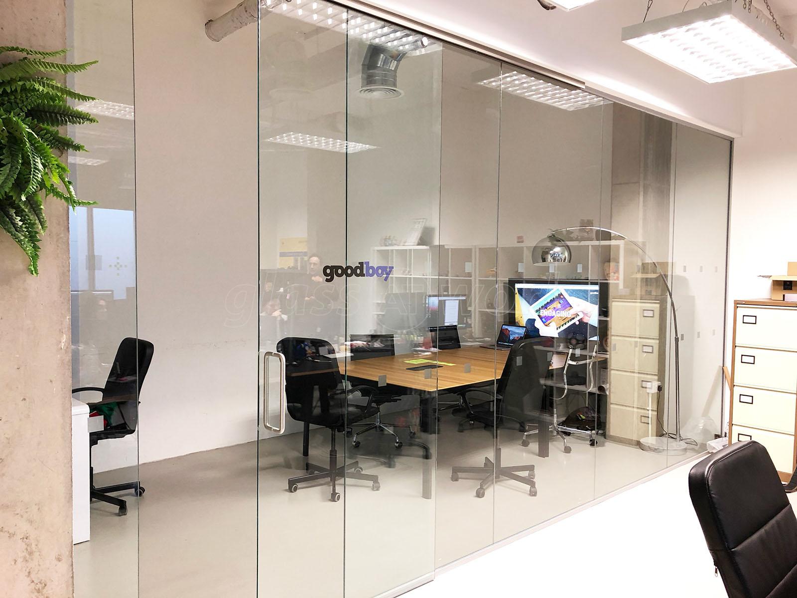 office sliding door. Goodboy Digital Ltd (London): Top Hung Glass Sliding Door And Office Partition S