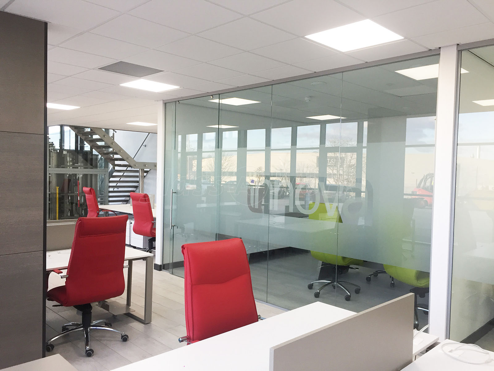 Glass Partitioning At Ultima Furniture Systems Ltd Pontefract West