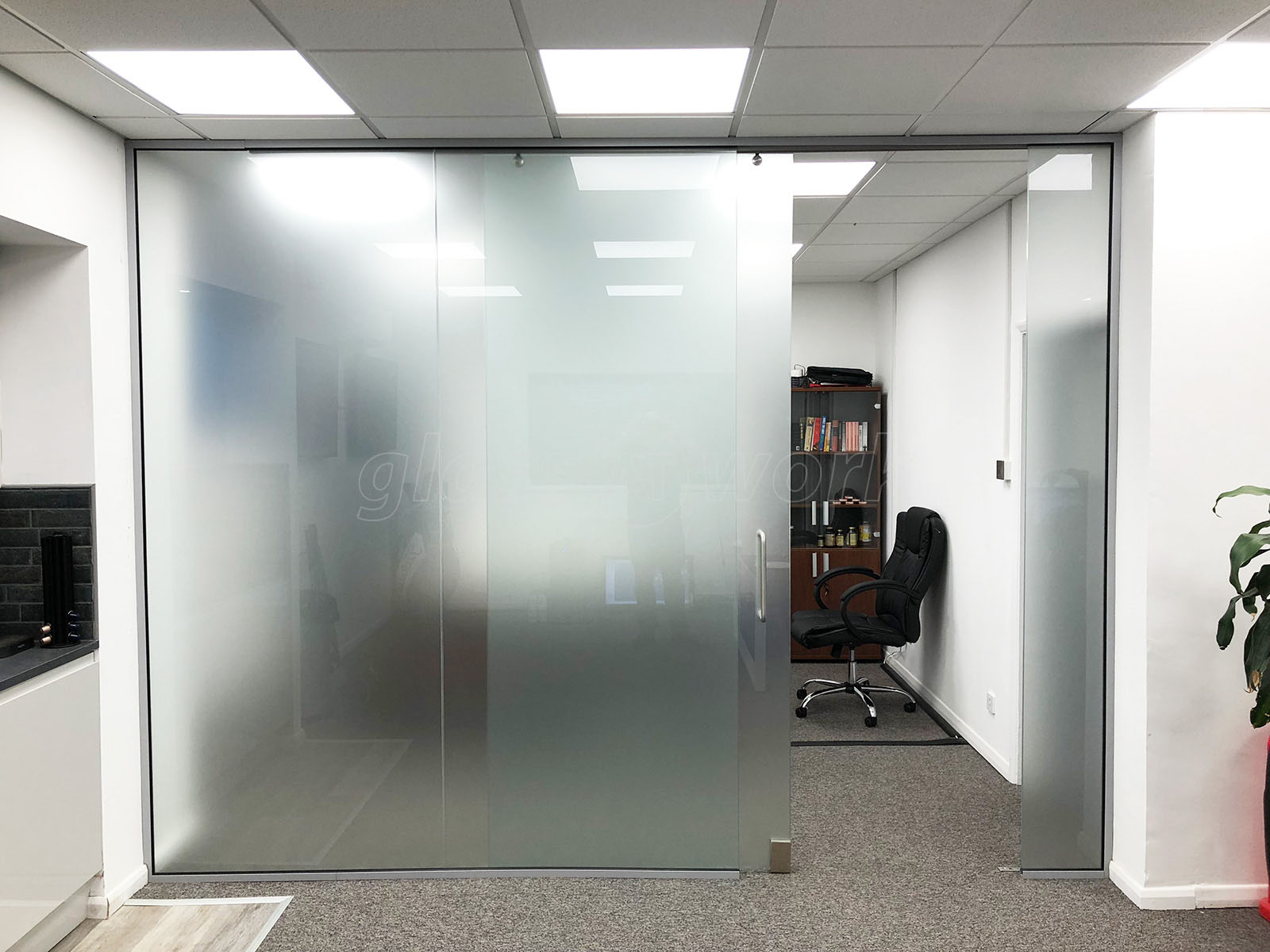 Glass Partitioning At Unified Retail Group Huntingdon