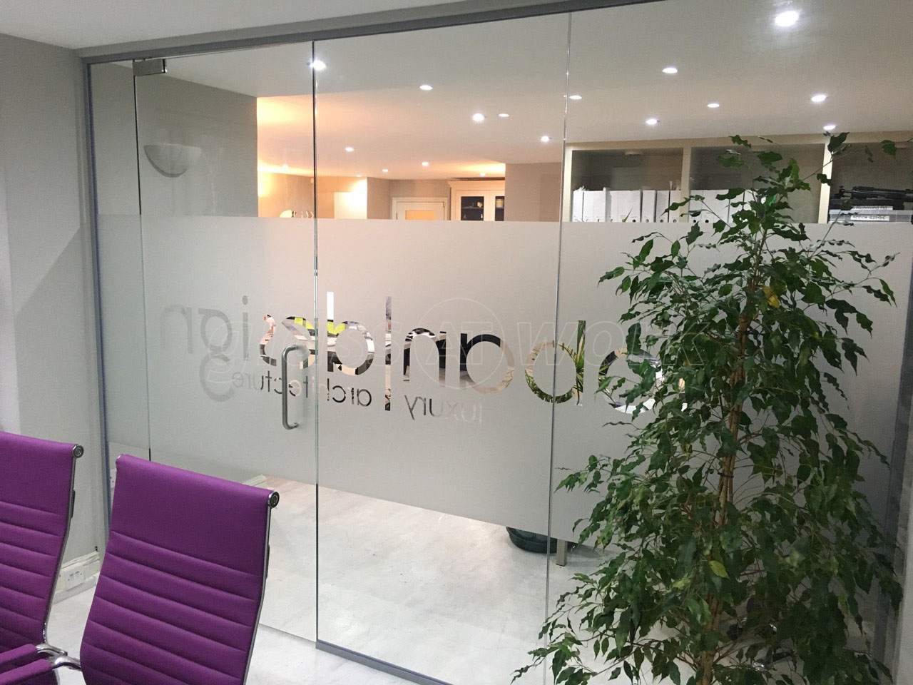 Glass Partitioning at Hoban Design London Glass Wall With Door