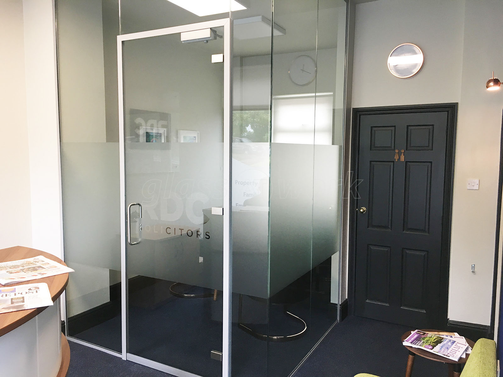 Glass partitioning at rdc solicitors ilkley west for Office design yorkshire