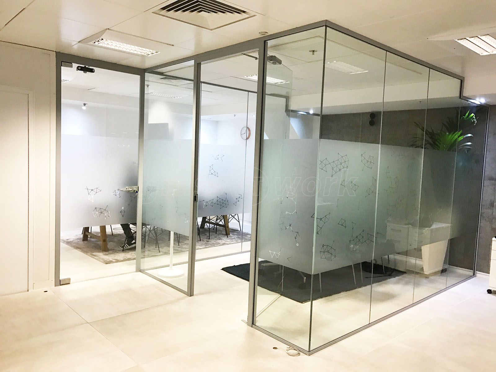 cool office partitions. Ayima Ltd (London): Office Partitions For A Glass Meeting Room Cool S