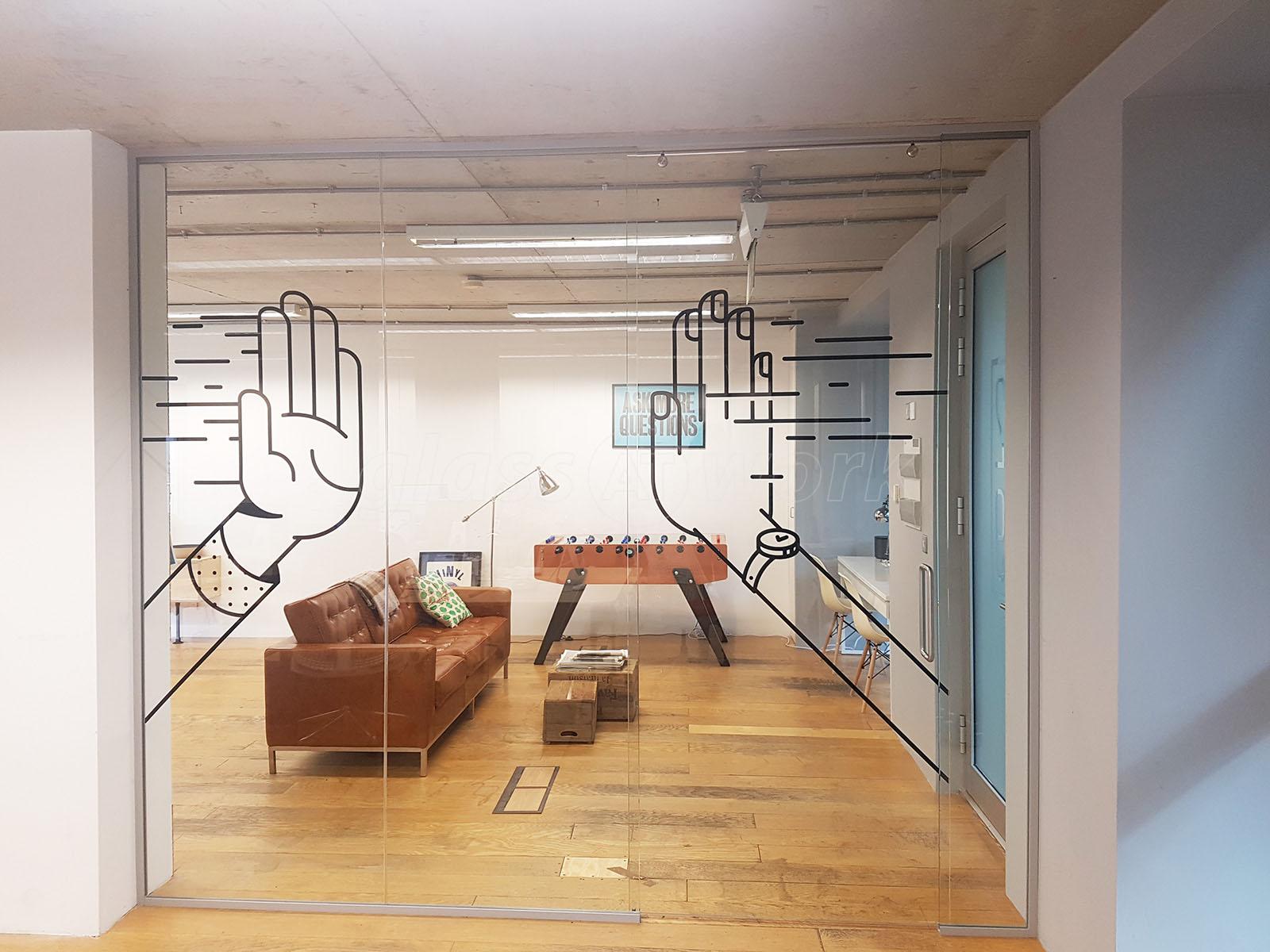 Studiomade (Southwark, London): Glass Sliding Door Office Partition