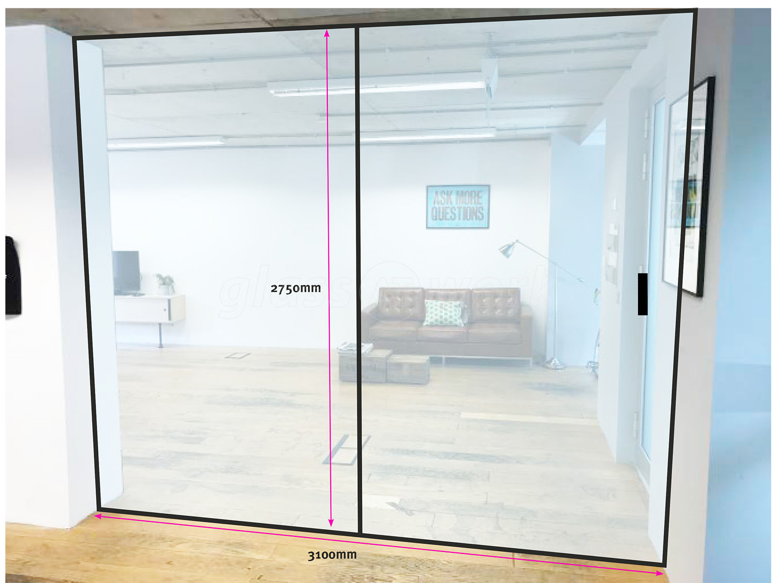 Glass Partitioning At Studiomade Southwark London Glass Sliding