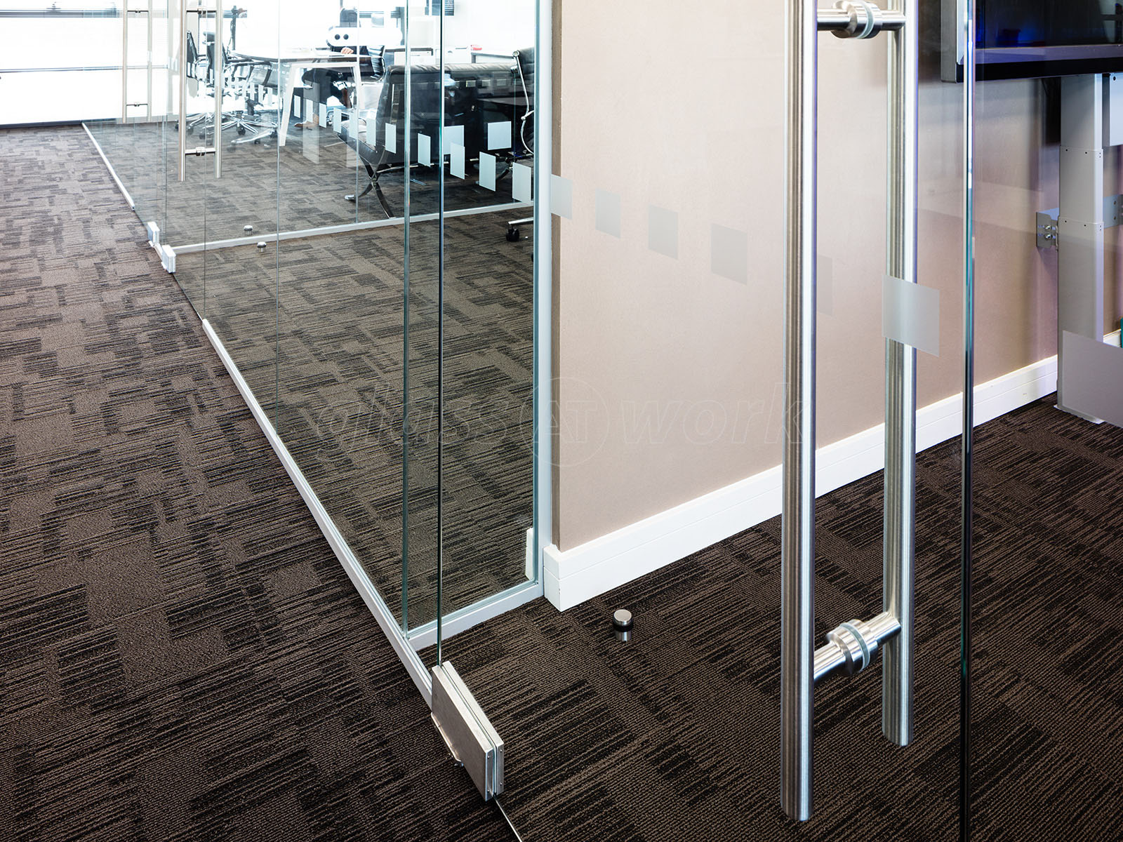 Glass partitioning at millgate connect sheffield Interior glass partition systems