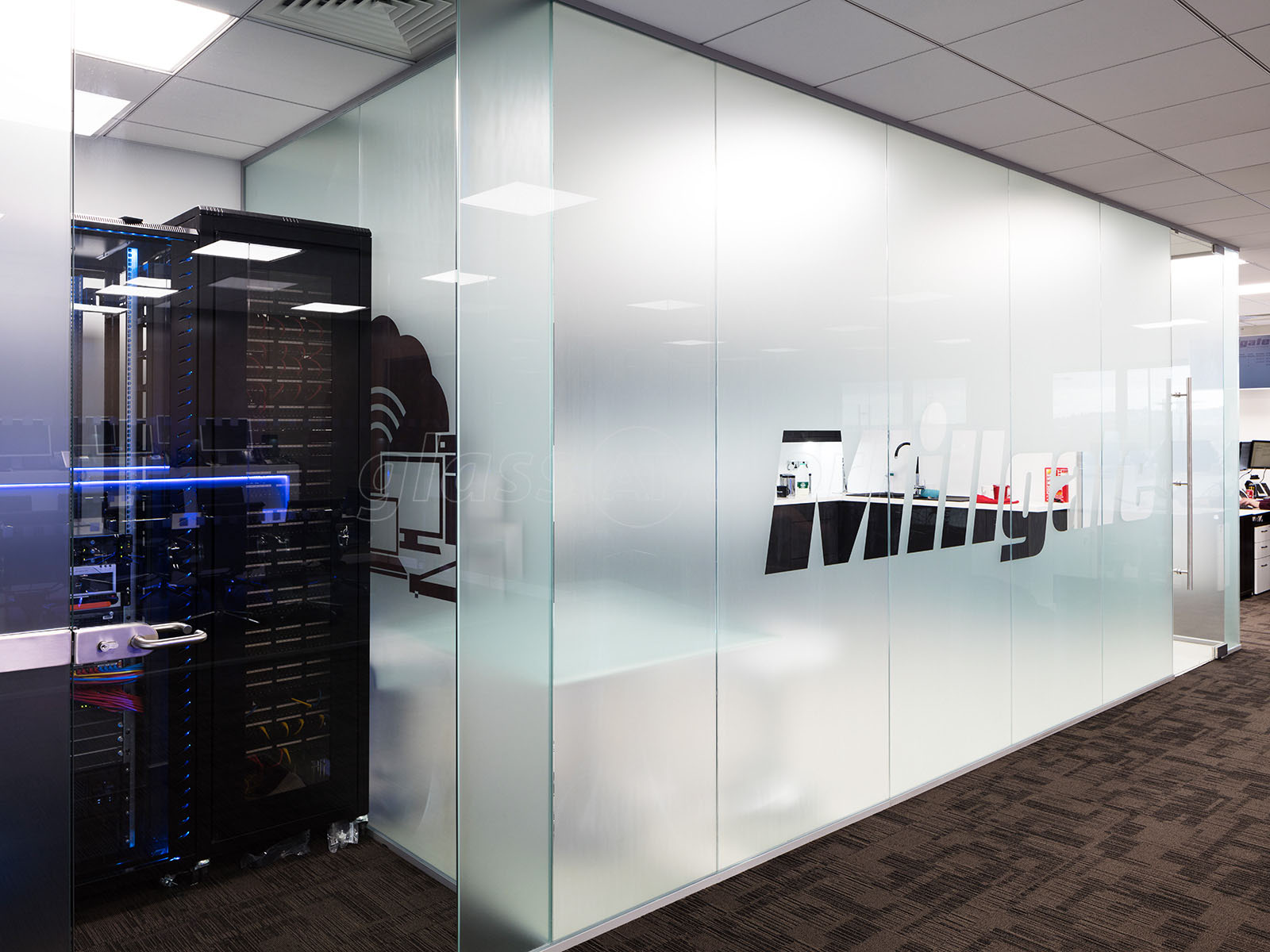 Glass Partitioning at Millgate Connect Sheffield Mulitple