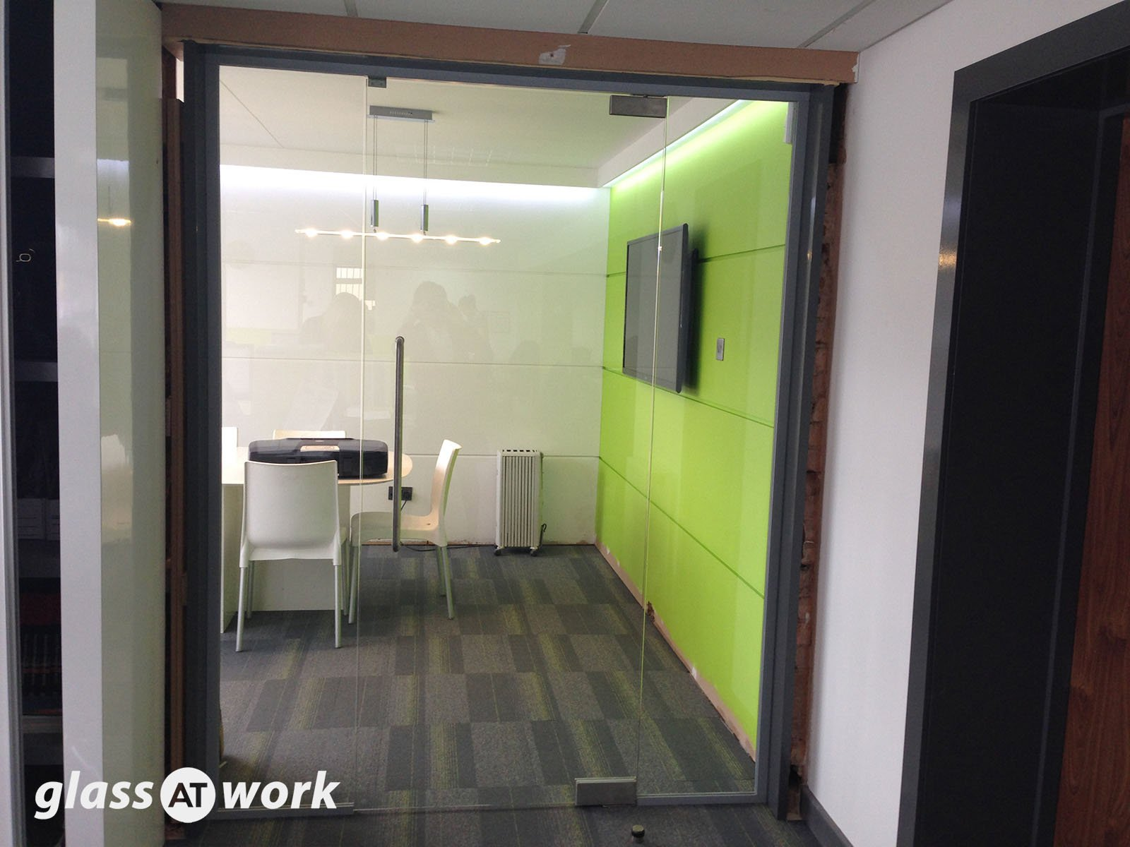 Glass Partitioning at Priority Exhibitions Limited Coventry Glass