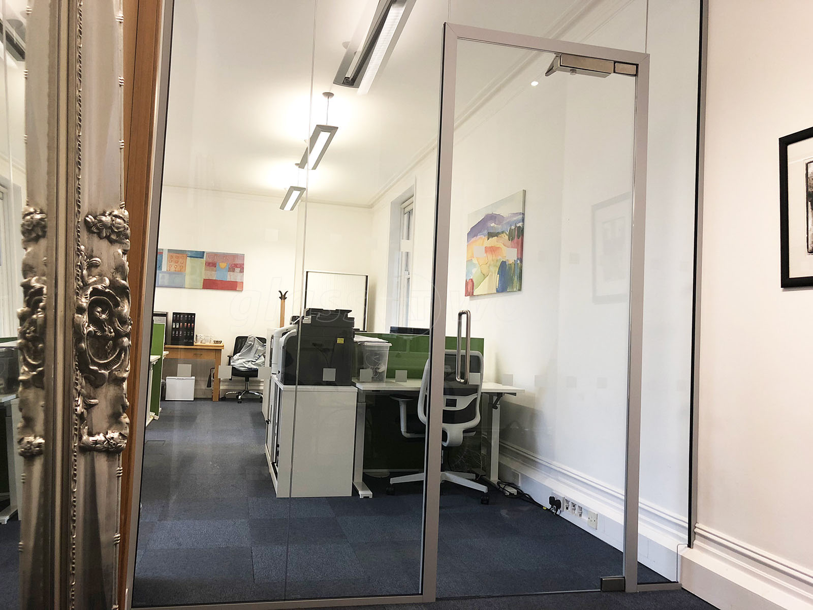 Glass Partitioning At Strand Ltd London Acoustic Glass Wall With