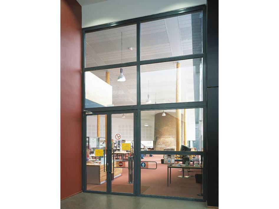 Fire Door With Window : Fire rated steel framed glass partitioning