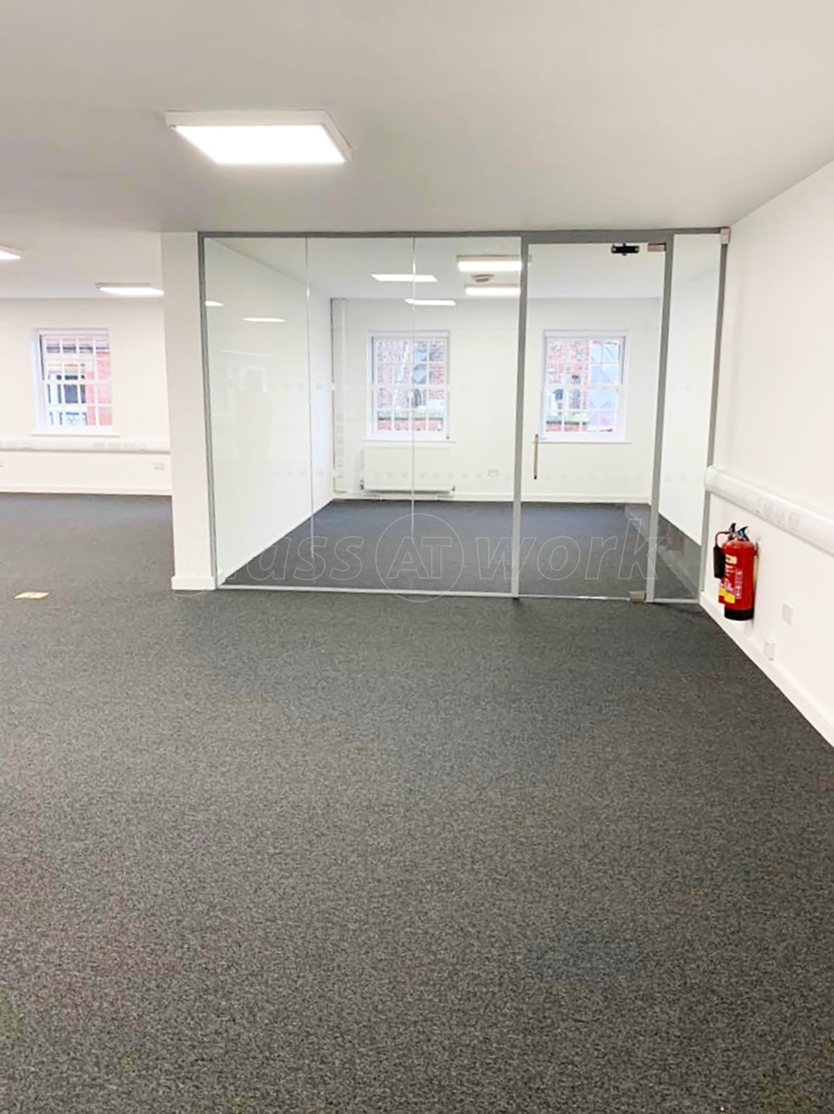 Glass Partitions At Stonegrave Properties Ltd York North Yorkshire Small Glazed Office Divider With Glass Door