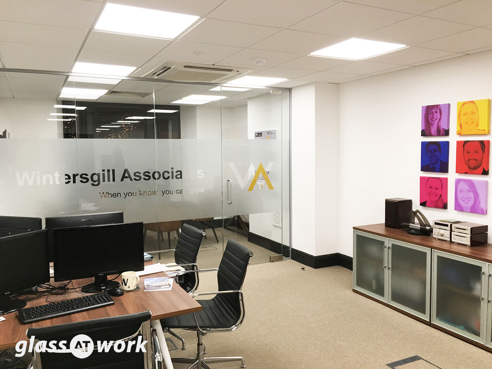 Glass partitioning at sturman wood ilkley west for Office design west yorkshire
