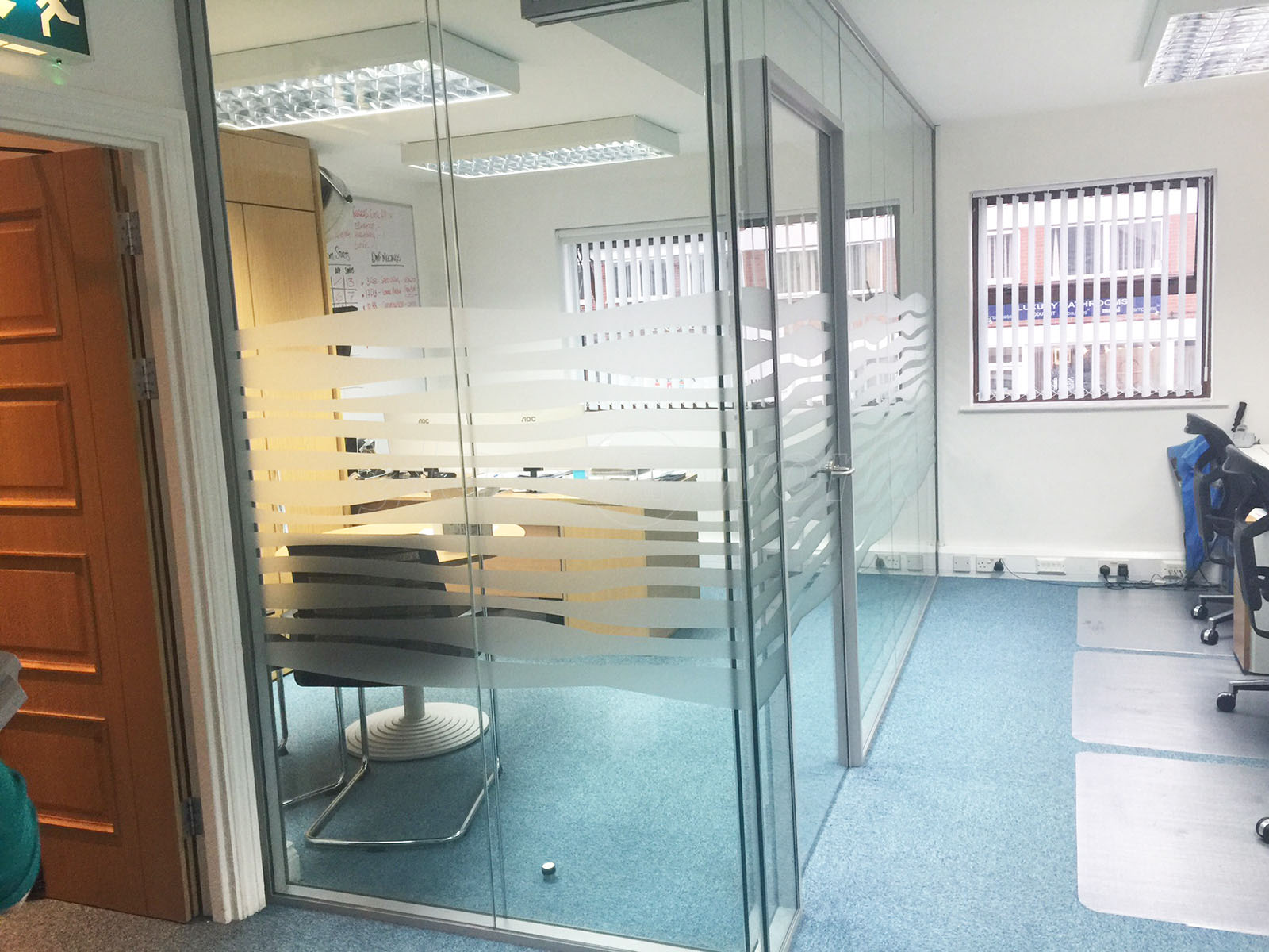 Glass Partitioning at Sutton Coldfield Training: Acoustic Partitioning