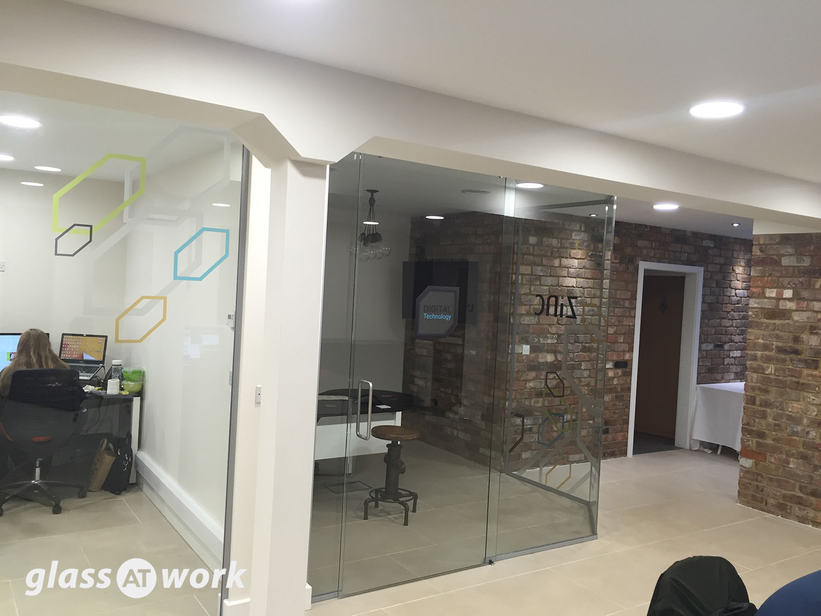 Zinc Digital (North&ton) Glass Partitions with Sliding Doors & Glass Partitioning at Zinc Digital (Northampton): Glass Partitions ...