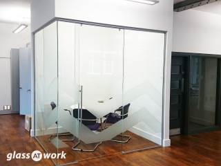 Trojan Style Sliding Frameless Glass Doors