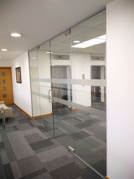 Eagle Installations Limited (Old Trafford, Manchester): Interior Frameless Glass Double Doors