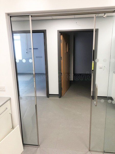 PJ Spillings [Builders] Ltd (Lowestoft, Suffolk): Glazed Office Screen With Framed Sliding Glass Door