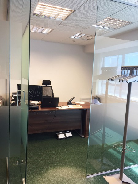 Partner Construction (Spennymoor, County Durham): Toughened Glass Partition Offices With Glazed Separating Wall