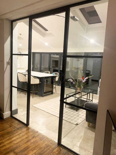 Domestic Project (Solihull, West Midlands): Industrial-Style Toughened Glass Room Divider