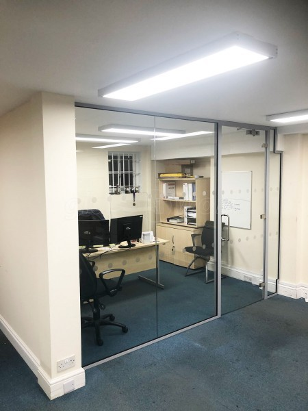 Wingate Electrical PLC (Waterloo, London): Glazed Partition With Acoustic Glass and Single Door