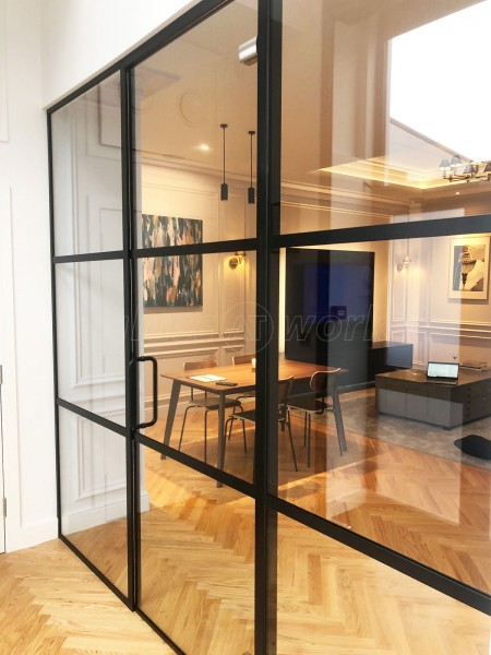 Creative Home Cinema Ltd (Ferndown, Dorset): Black Slimline T-Bar Acoustic Glazing With Black Frame