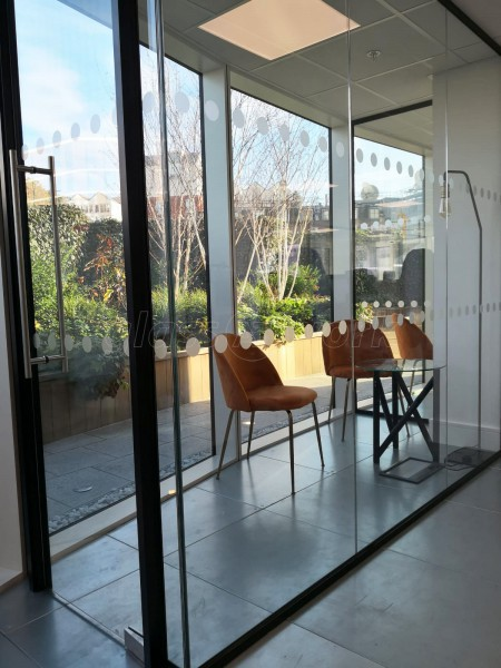The Media Image (Lambeth, London): Acoustic Glass Office Partitions With Black Frame