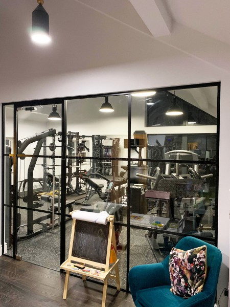 Domestic Project (Harrogate, North Yorkshire): Acoustic Glass Industrial-Style Glazing With Black Frame