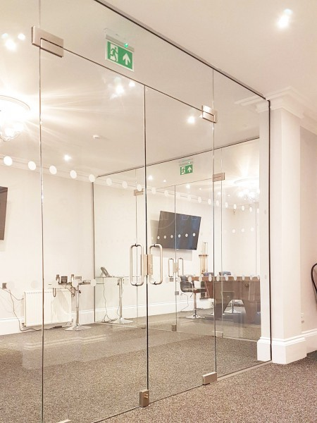 Magna Timber Works (Norwich, Norfolk): Office Glass Double Doors For A Room With High Ceiling