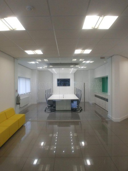 Sov Print Ltd (Caerphilly, Wales): Frameless Glass Office Walls & Partitions