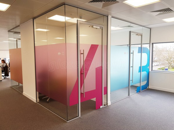 glass walls office. Twogether Creative Ltd (Marlow, Buckinghamshire): Large Glass Office Partitioning Fitout Walls
