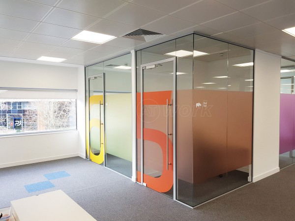 Single Glazed Frameless Glass Office Partitioning