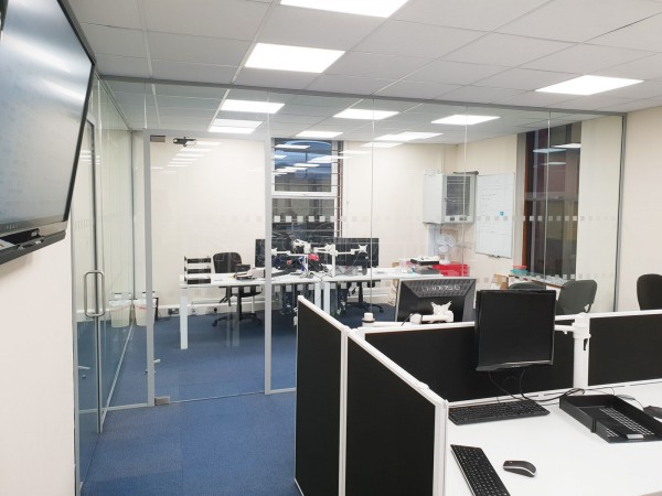 5G Communications Ltd (High Wycombe, Buckinghamshire): Toughened Glass Partition Office Fitout