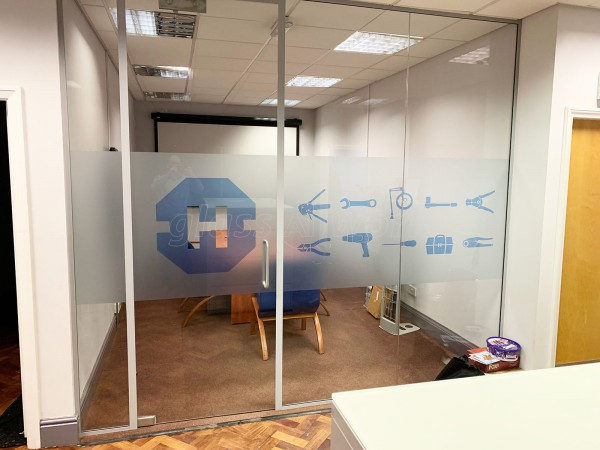 Heamar Company Limited (Congleton, Cheshire): Acoustic Glass Partition for Meeting Room