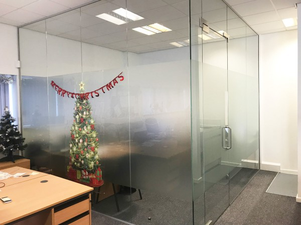 Allgas1 Ltd (Rotherham, South Yorkshire): Glazed Corner Office With Frameless Glass Door