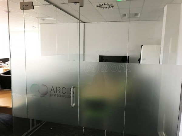 Arcis Biotechnology Ltd (Warrington, Cheshire): Single Glazed Glass Office Corner Room Installation With Toughened Glass