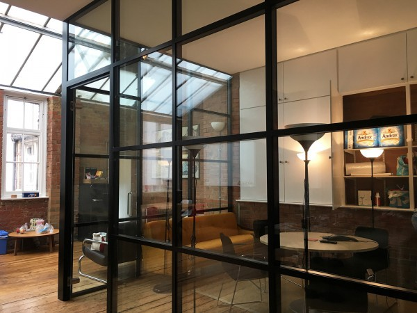 Azoomee (Islington, London): Factory Style Glass Corner Room With Black Frame