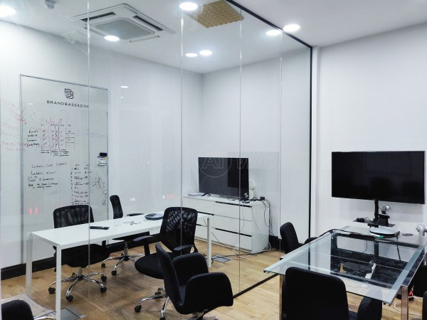 Brandbassador (Hackney, London): Single Glazed Acoustic Glass Room Divider Office Partition